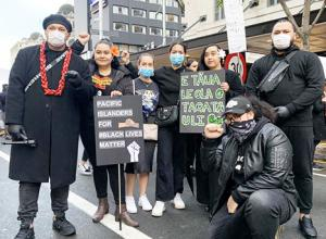 Black Lives Matter protest group in Auckland.