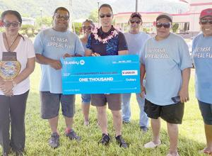 Bluesky donates $1,000 check to Fijian community