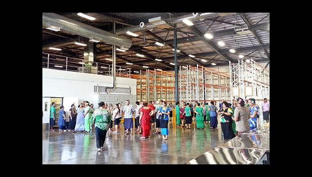 Samoa's Government's first, state-of-the-art, pharmaceutical warehouse which was officially opened Monday afternoon.  [photo: Samoa Press Secretariat]