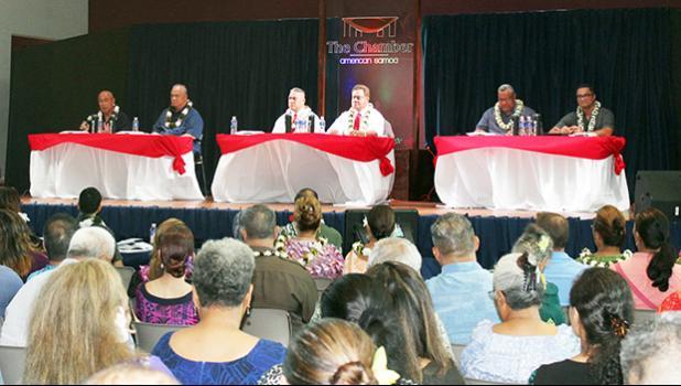 I'aulualo/Tapa'au team (far left); Nua/Satele (middle) and Lemanu/Talauega (far right).