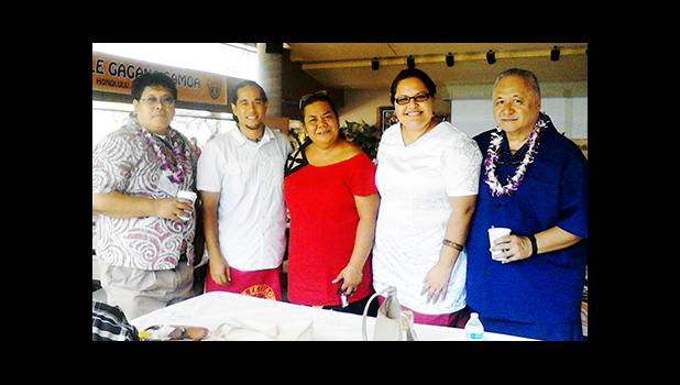 Mrs. Okenaisa Fauolo-Manila (center), Director of the ASCC Samoan Studies Institute, is seen here during the 2016 Samoan Language Symposium, which took place in Hawaii in mid-August. Joining her are (l-r) Mr. Setiro Paul (Chuukese Language Educator),Mr. Grant Muagututi'a (UH Manoa Lecturer in Samoan Language), Fauolo-Manila, Mrs. Deborah Nikolao-Stanley (Hawaii Elementary Samoan Language Teacher) and Tapaau Dr. Dan Aga (Director of ASG Political Status, Constitutional Review and Federal Elections Office).