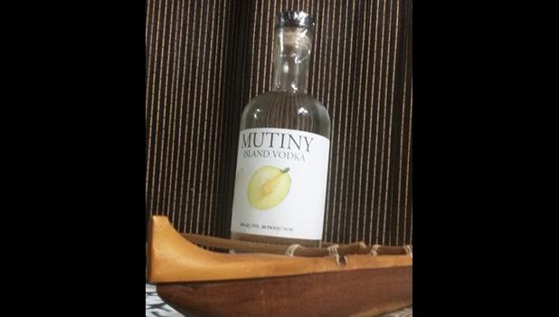 Mutiny Vodka distilled in the State of Virginia from breadfruit flour from American Samoa in the South Pacific, initiated as a product from the US Virgin Islands in the Caribbean.  [courtesy photo]
