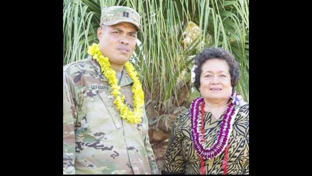 Congresswoman Amata with Captain Lefaoseu.  [courtesy photo]