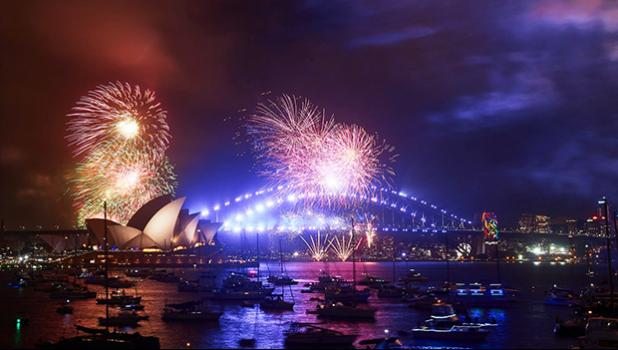 City of Sydney New Year's fireworks display. [photo: The Telegraph]