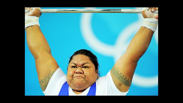 Ele Opeloge of Samoa competes in the women's +75 kg weightlifting event during the 2008 Beijing Olympic Games on August 16, 2008.  [Photo: AFP PHOTO/JUNG YEON-JE via RNZI]