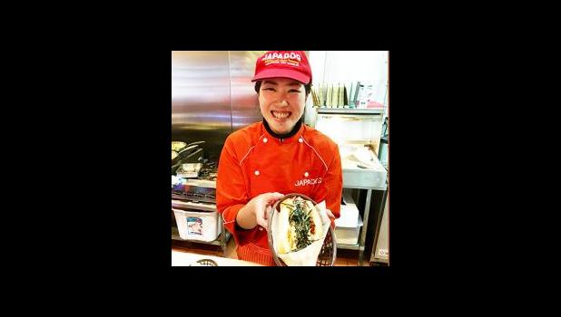 Japadog — a famous hot dog in Vancouver, Canada. [Photo by Barry Markowitz, 3/11/16]