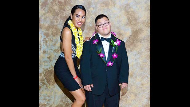 Miss Teen American Samoa United States 2016-2017, Mariah Limala'u Rae Naea escorting a young man with special needs during prom. Mariah is a Samoan girl who will be representing the US in the Miss Teen Continents 2018 pageant next year.  [photo: courtesy]