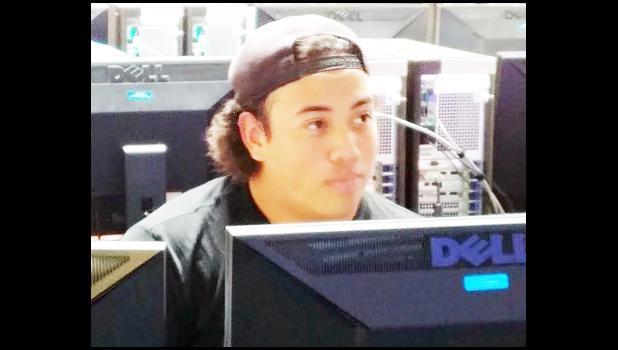Mervin Tano, Kapiolani Community College KIKSAPA NASA TCU-ELO program intern, Haskell Native American University, Lawrence Kansas.  [courtesy photo]