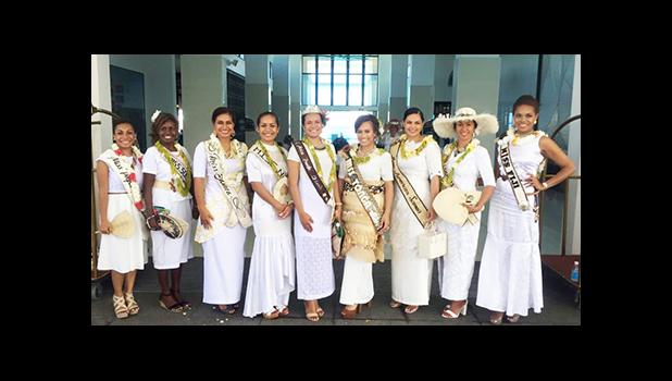 Miss Pacific Islands, Abigail Havora and the 8 beautiful contestants after the church service that kicked off the week's activities. [photo: Miss Pacific Islands Facebook] - See more at: http://www.samoanews.com/content/en/miss-pacific-islands-beauties-begin-week-prayer#sthash.AKvc06p0.dpuf