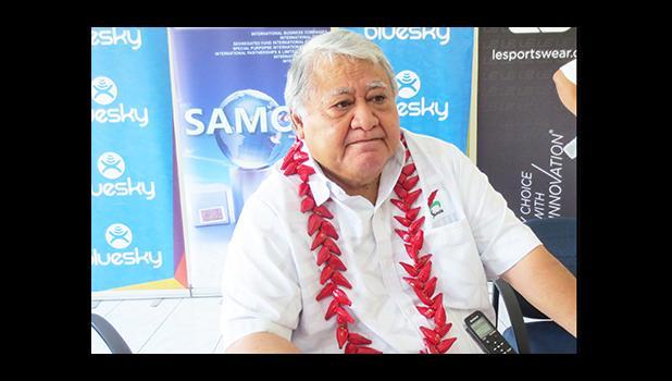 Prime Minister Tuilaepa Sailele Malielegaoi addresses the nation as Samoa says goodbye to 2016 and greets 2017.  (Photo JL)