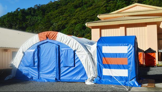 Negative Pressure Medical Tent at the LBJ Medical Center