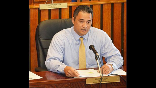Task Force Chairman Lt. Governor Talauega Eleasalo Ale