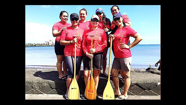 The Alo o Samoa team: Front row left-right:  April Esera (ASPA), Erika Radewagen (Alo Club), Ta'aloga Tupa'i-Drabble (Alo Club)  Back row left-right: Malama Petaia (Alo Club), Cherith Lober (GHC Reid & Co.), Matamua Katrina Mariner (ASPA), Arbor Day Mata'afa (ASPA)  [courtesy photo]