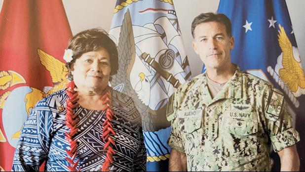 Congresswoman Amata and Admiral Aquilino