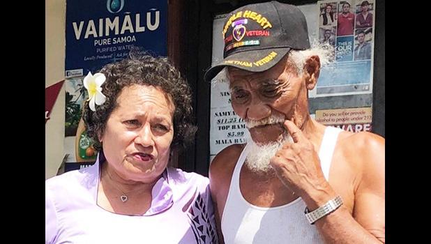 Amata with three-time Purple Heart recipient Fanuatanu Mamea