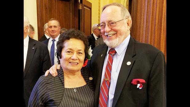 Aumua Amata and Rep. Don Young