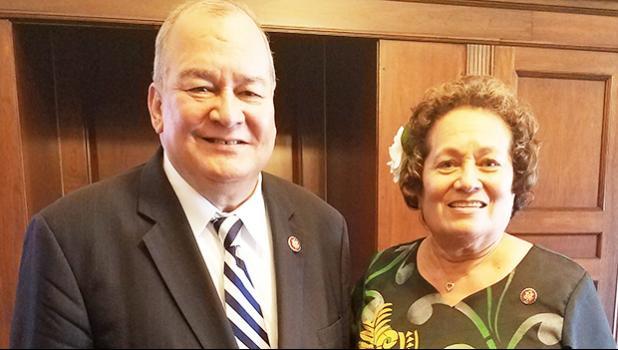 Congresswoman Amata and Congressman Sablan