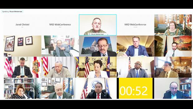 Screenshot from virtual Natural Resources committee meeting