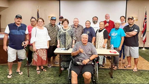 Some of the American Samoa veterans in Honolulu