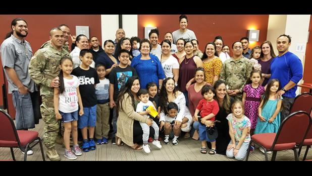 Amata with Soldiers and their families from the Samoan community at Fort Bragg, North Carolina. [courtesy photo]