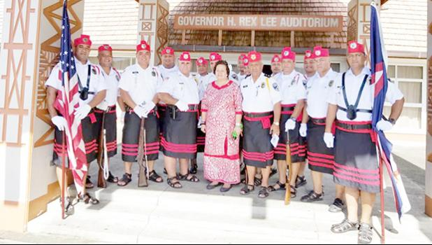 Amata with police officers