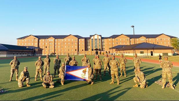 Alpha Company Toa o Samoa at Fort Lee, Virginia