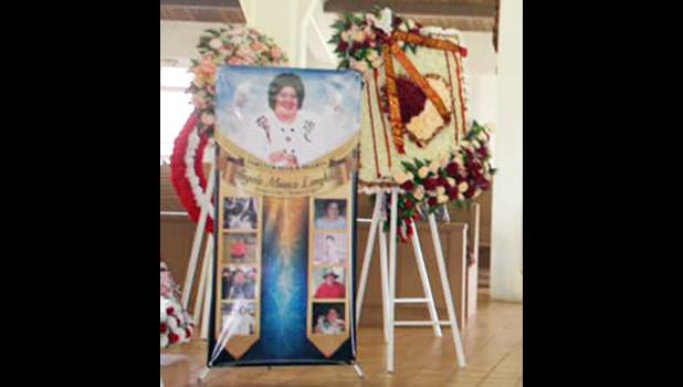 Photos of Angie at her funeral