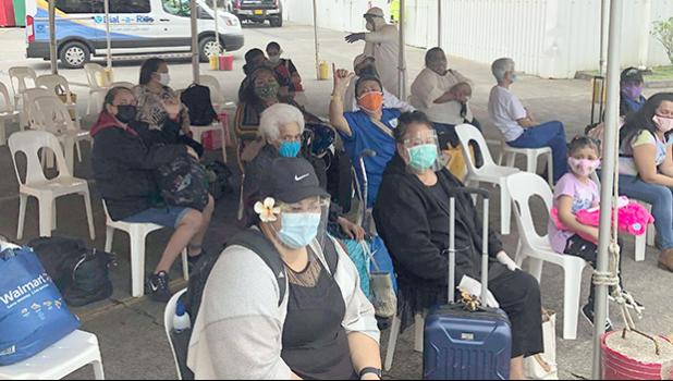 some of the passengers on the first repatriation flight to American Samoa
