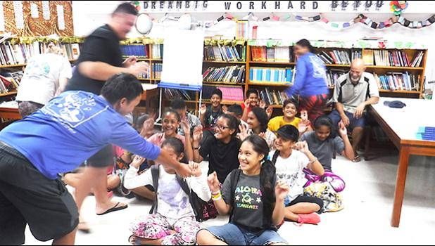 ASCC marine science students help Manu'a Elementary School students learn about the ocean environment