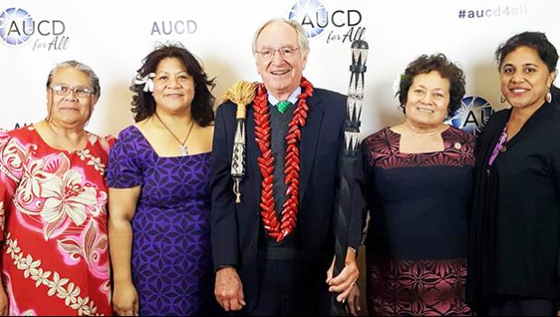 Tafa Tupuola and her lovely mother (left), then Senator Tom Harkin, Congresswoman Amata and Norma Lagafuaina Smith