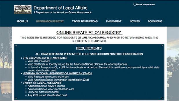 screenshot from ASG Registry website