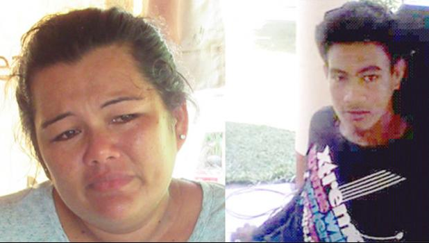 ( l r) Grieving sister Pelenatete Senio with her brother and victim of a fatal beating, Miracle Iva Aileone
