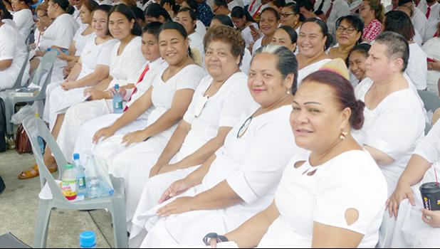Members of the Congregational Church of Jesus in Samoa choir