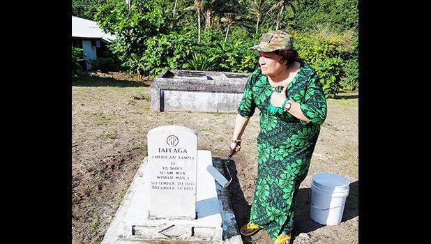 Navy Seaman Tafeaga's historical marker in Manu'a
