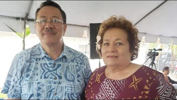 Congresswoman Amata and ASPA Acting Executive Director Wallon Young