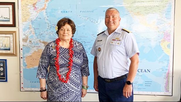 Congresswoman Amata and Rear Admiral Matthew Sibley USCG