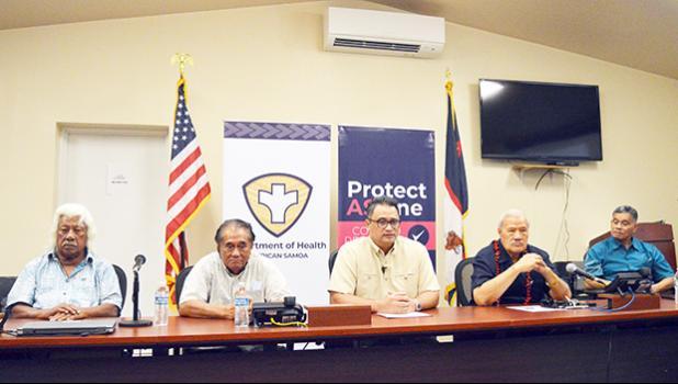 Lt. Gov. Talauega Eleasalo Ale with other task force leaders