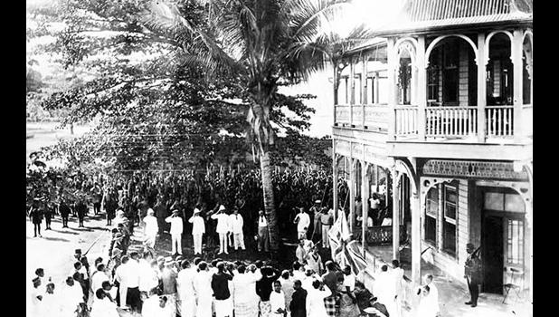 Apia courthouse in August 1914.