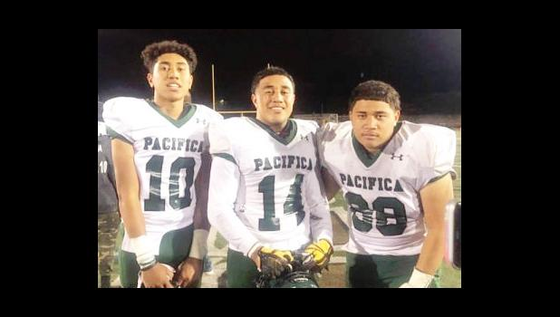 #68 (Junior), David Jake Aina, #14 (Senior), Faamaini Joshua Aina, #10 (Junior), Faleapoi Julio Ain