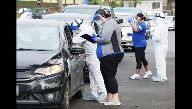 Drive up testing in Honolulu