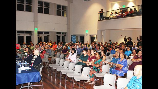 Some of the crowd who attended the Chamber of Commerce first gubernatorial forum hosted