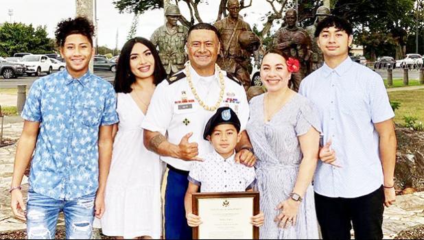 CSM Selau Aiava Jr. and family
