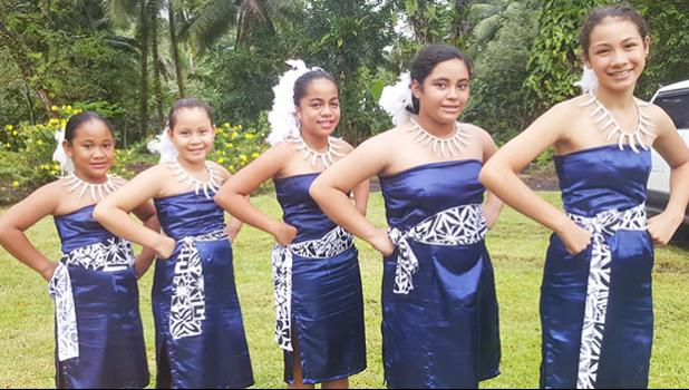 Members of the Pearls of the Pacific Dance Company,