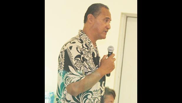 Marine and Wildlife Resources director, Taotasi Archie Soliai