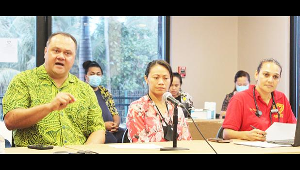 [l-r] Dr. Dr Aifili Tufa, Dr. Francine Amoa, and Dr. Fiona Trial
