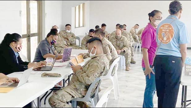 Local Army Reserve members signing up for vaccine