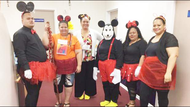 DPS personnel dressed as Mickey & Minnie