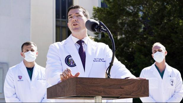 Dr. Sean Conley, physician to President Donald Trump