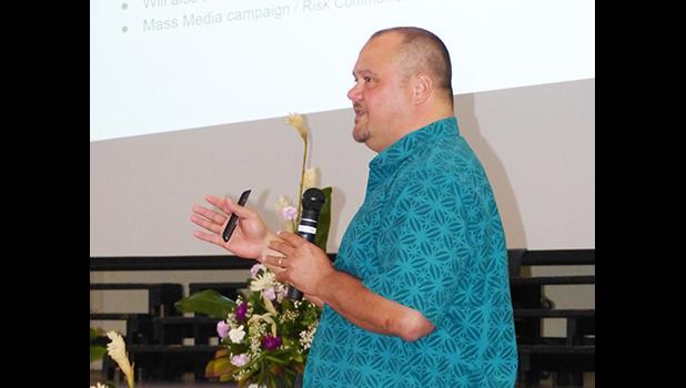 Department of Health Chief Epidemiologist Dr. Aifili John Tufa