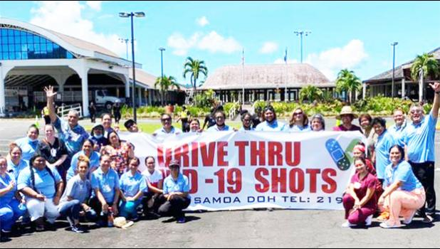 Group promotes covid-19 vax this past March